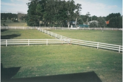 Bounce Back ® horse fence note the intermediate post spacing.