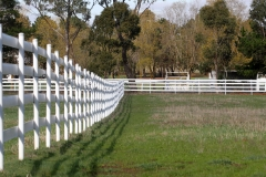 4 Rail White Fence