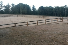 Black 2 rail Horse Arena Fence