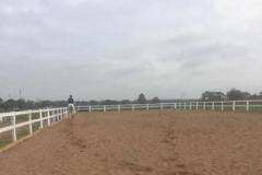 Horse Arena Fence Australia - 2 rail white 640 480