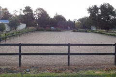 horse arena fencing - black bounce back and woodshield posts