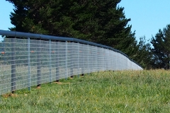 Horse Fence - Foal Yard Black Rail with mesh