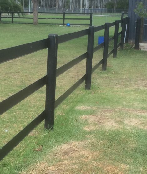 Horse Fencing Rail - 3 rail black