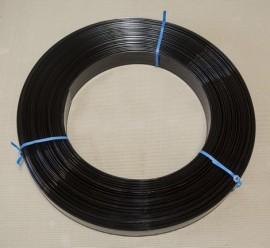 Horse Fencing Rail - Black 100mtr roll