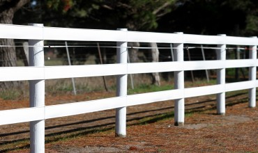 Bounce Back ®  horse fence is perfect for that classic white timber fence look.