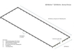 horse arena fence drawing