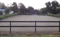 horse arena fencing woodshield posts - dressage arena fencing