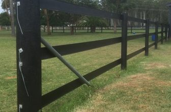 Horse Fence Posts - Black Timber