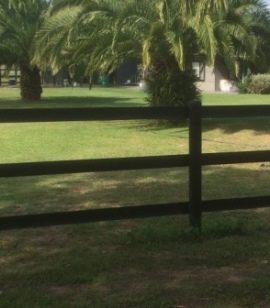 Easy horse fence 3 rail black