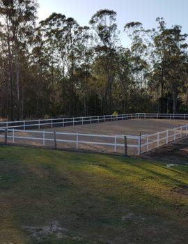60*20 Metre Horse Arena Fencing Kit Black (inc Posts)