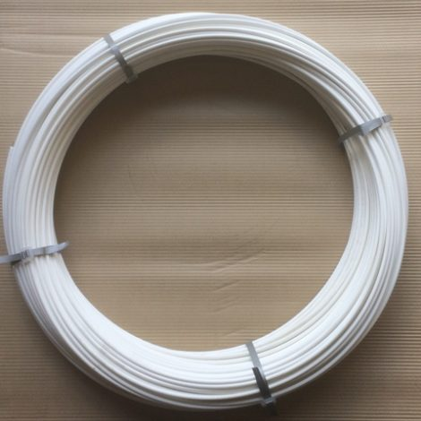 plastic coated fence wire white