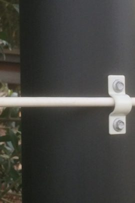 white bracket - plastic coated fencing wire