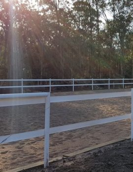 horse arena fencing kit white 40*20